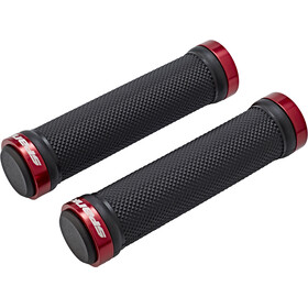 Spank Spoon Lock-On Cykelhåndtag, black/red
